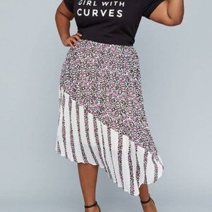 Lane Bryant Girl With Curves Pleated Leopard Skirt
